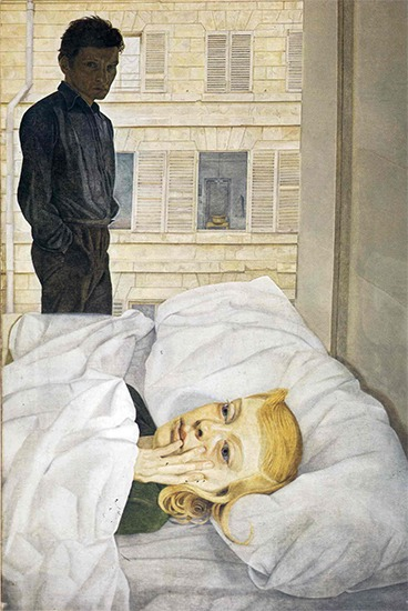 Hotel Bedroom — Lucian Freud, 1954